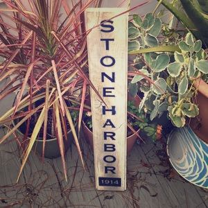 Wooden Stone Harbor sign - perfect for front door